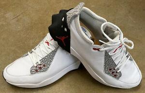 Nike Air Jordan ADG 2 Golf Shoes White Black Red CT7812-100 Men's Size 12