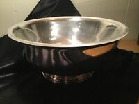 """Gorham Vintage 9"""" Silverplate Paul Revere Bowl with Clear Plastic Liner"""