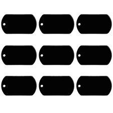 20pcs Black Aluminum Custom Personalised Army Military Dog Tags Disc ID Tag 50mm