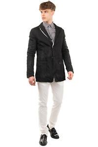 RRP €820 LUMEN ET UMBRA Blazer Jacket Size 50 / L Garment Dye Worn Look