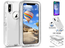 Transarpent Shockproof Defender Case Holster Fit Otterbox For iPhone Xs Max/X/XR