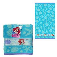 "Disney Little Mermaid Ariel Seashells Cotton Bath Beach Pool Towel 28""x50"" 🌟NEW"