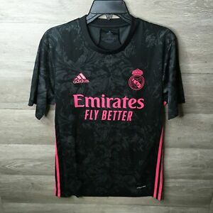 Adidas Mens Small Black 2020-21 Vinicius Junior Real Madrid 3rd Jersey NWT