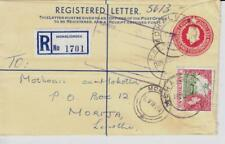 Basutoland Registered Postal Envelope-HG:C5-uprated SG#72-MOHALESHOEK