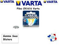 Piles bouton Varta 3V Lithium CR1616 Sous Blister, Qualité Professionnelle