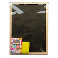 Childrens Blackboard & Chalk Set – Chalk Board (Pine Frame), Duster & Chalk. AA