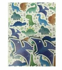 DINOSAUR BIRTHDAY PARTY GIFT WRAP 2 SHEETS & 2 GIFT TAGS