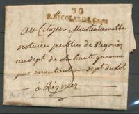 1800 Lettre Marque S.NICOLAS.D.L.GRAVE HAUTE-GARONNE(30) X2917