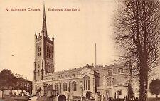 POSTCARD   HERTFORDSHIRE   BISHOPS  STORTFORD      St  Michael's  Church