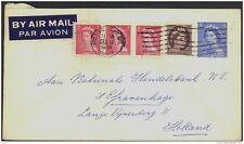 CANADA, Postcard 1953 5c envelope to Holland, fine (D)