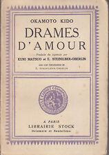 C1 JAPON Kido OKAMOTO - DRAMES D AMOUR EO Numerote 1929 Theatre KABUKI Epuise
