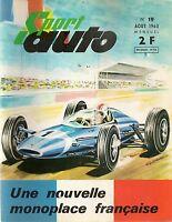 SPORT AUTO 19 1963 GP DE BELGIQUE HOLLANDE DE L'ACF COUPE DES ALPES ALPINE M63