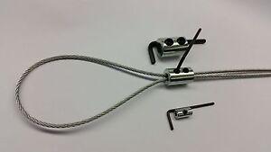 2mm-3mm Steel Wire Rope Clamp Steel Wire Rope Grip, Loop Wire Eye FREE P+P!!