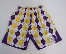Youth XX Small Argyle Performance Athletic Shorts LSU Colors  Flow Society
