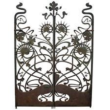 ART NOUVEAU ANTIQUE VINTAGE WROUGHT IRON GARDEN GATES RARE, CIRCA 1895