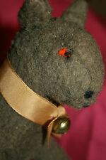 Lindo Antiguo/Vintage relleno de paja Burro Suave Juguete de tiempos de guerra/ovejas juguetes para niños
