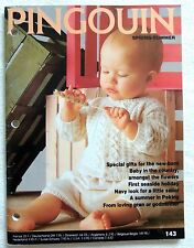* Pingouin Layette #143  Baby Knitting Book 63 Designs  3mo-24mo