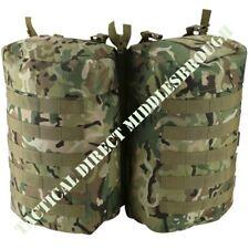 BRITISH ARMY STYLE PLCE MOLLE SIDE ZIP POUCH x2 MTP BTP CAMO BERGEN POUCHES