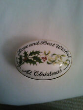 Fine Bone China Crown Staffordshire Christmas Covered Trinket Box England