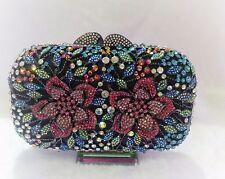 Multi Color New Bridal/Evening Handmade Austria Crystal Purse Clutch Bag