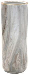 30cm Cylinder Vase Gold Ceramic Marble & Speckled Design Decorative Flower Vase