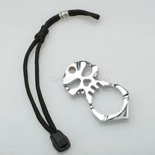 Emergency Self Defence Outdoor Survival EDC Tool Alloy Skull Pendant Keychain