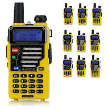 10x BaoFeng UV-5R Plus Qualette Yellow + Original Earpiece VHF/UHF Two-way Radio