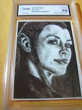 TAURIEL LORD OF THE RINGS ARTIST AUTOGRAPH 2014 ACEO ART CARD PRINT GRADED 10