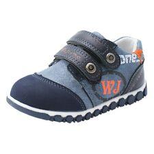 Boys Toddlers Blue Leather Lined Lace up Zip Stylish Shoes Cheap UK Size UK 8 Infant EU 26 16cm