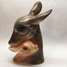 """Royal Copley Deer Doe Fawn Figurine 8 1/2"""" Vintage S2"""