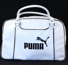 PUMA White Black Handbag Duffel Duffel Gym Beach Purse Carry On Travel Tote Bag