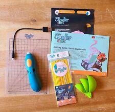 3Doodler Create BUNDLE 3D Printing Pen with Charging Cord, Strands, Doodlepad