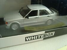 MERCEDES 190 E 2.3 16 V GRIS CLAIR 1988 1/43° WHITEBOX NEUVE EN BOITE PLEXI