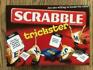 SCRABBLE TRICKSTER BY MATTEL FUN WORD & FAMILY BOARD GAME
