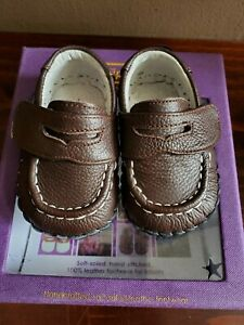 Baby Boy Pediped Brown Shoes Orig. $41  size Newborn