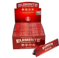 Elements Slow Burn Hemp Red King Size Slim Burning Rolling Papers Sugar Gum