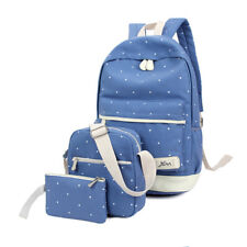 Women Canvas Backpack Shoulder Bag Travel Rucksack Schoolbag Laptop Satchel Bags