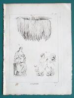 MYTHOLOGY Gods Jupiter Pluvius Titan Snake Legs Juno Breastfeeding - 1804 Print