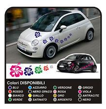 KIT ADESIVI FIORI per SMART FIAT 500 car Flowers stickers 18 PZ MINI COOPER