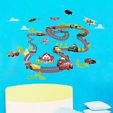 Wandtattoo Cartoon Auto Cars Circle Race Track Wandaufkleber Wandbild  NEU.~