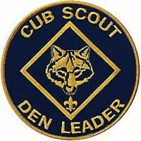 BOY CUB SCOUT DEN LEADER OFFICIAL JUMBO EMBROIDERED JACKET DISPLAY PATCH EMBLEM