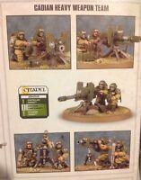 Warhammer 40k Astra Militarum Cadian Heavy Weapons team Brand New on Sprue