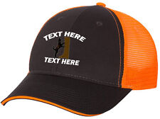 Cap Hat Embroidered Gray S Orange Mesh Personalized Hound Dog Coon Hunter Plott