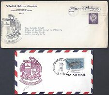 US 1958 BYRD ANTARCTIC STATION CANCEL ON OFFICIAL SENATE COVER WITH POST OFFICE