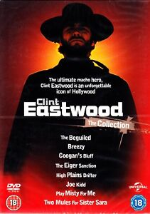 CLINT EASTWOOD 8 DVD COLLECTION BOXSET R4 PLAY MISTY FOR ME COOGAN'S BLUFF+
