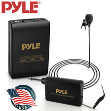 Wireless Lavalier Microphone System Portable Professional Clip Lav Lapel Mic