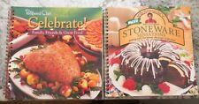 2 Pampered Chef Cookbooks...CELEBRATE & STONEWARE SENSATIONS