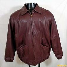 PRESTON & YORK Lambskin Leather JACKET Coat Womens Size M Wine Purple zippered