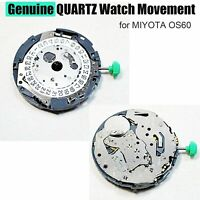 New Genuine QUARTZ Watch Movement Replacement Accessories Parts for MIYOTA OS60