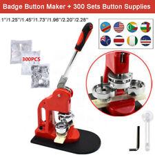 Button Maker Badge Machine 1''/1.25''/1.45''/1.73''/1.96''/2.28''+300 Set Parts
